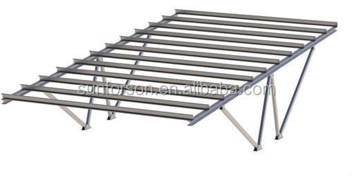 All Aluminum Double Or Single Row Car Park Solar Panel
