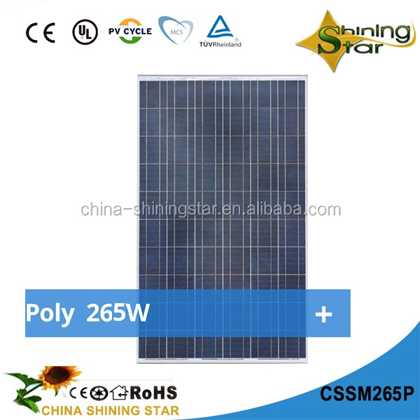 2017 China high efficency price per watt pvt hybrid solar panel 260W monocrystalline 260W 265W 270W 275W 280W