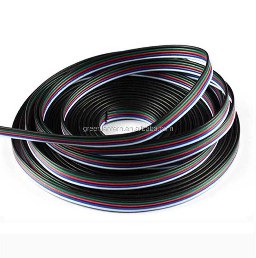 5pin 20AWG RGBW led verlängerungskabel draht für 5050 Led-streifen ...
