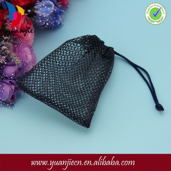Black Small Nylon Mesh Drawstring Bag - Buy Mesh Drawstring Bag ...