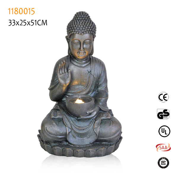 Outdoor buddha fountain water feature