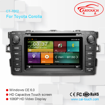 car dvd player for toyota corolla multimedia navigation. Black Bedroom Furniture Sets. Home Design Ideas