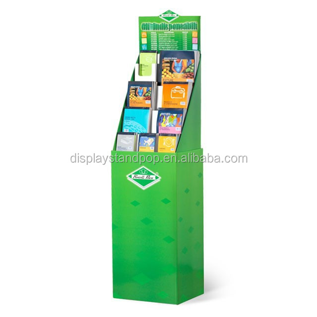 stamp album/cartoon/storybook/CD/DVD/book cardboard display stand for bookstore