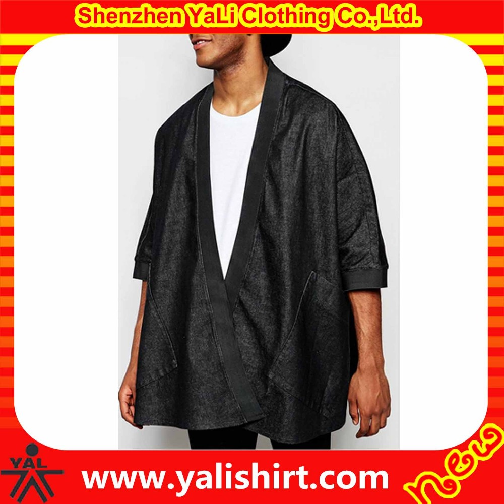 Custom Made Stylish Dropped Shoulders Oversized 100 Cotton Black