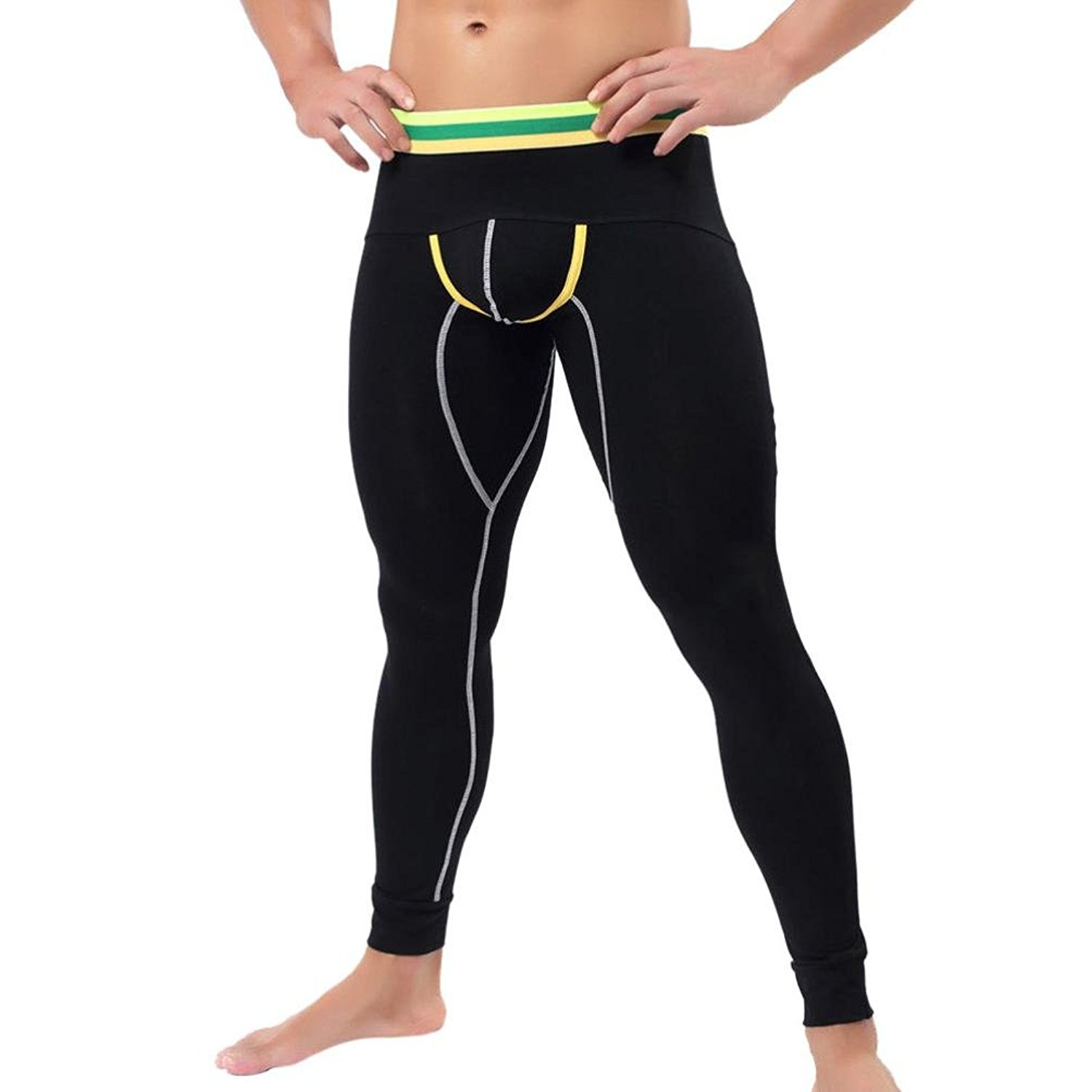 ef852b1c953e3 Get Quotations · OUBAO Winter Long Johns for Men, Mens Thermal Tight  Compression Warm Base Layer Underwear Pants