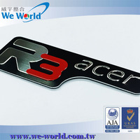 Self adhesive printing aluminum embossed metal letters and numbers