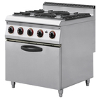 Catering equipment gas cooking range/gas range with 4 burner & oven