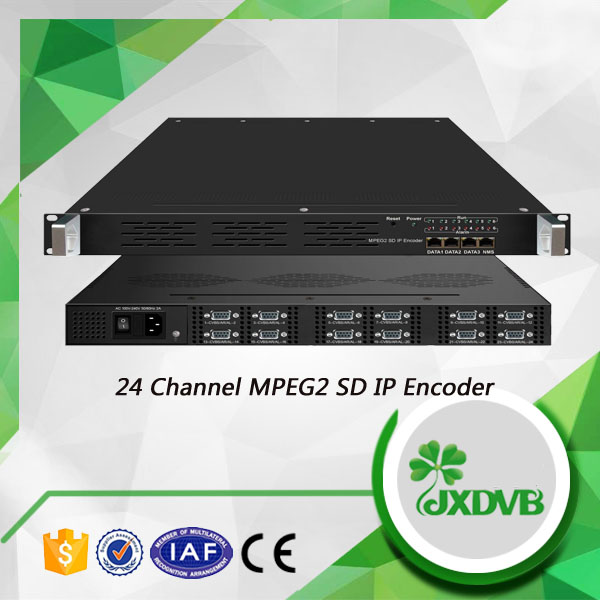 Best Price 24 CVBS to MPTS or SPTS IP output MPEG-2 IPTV Encoder