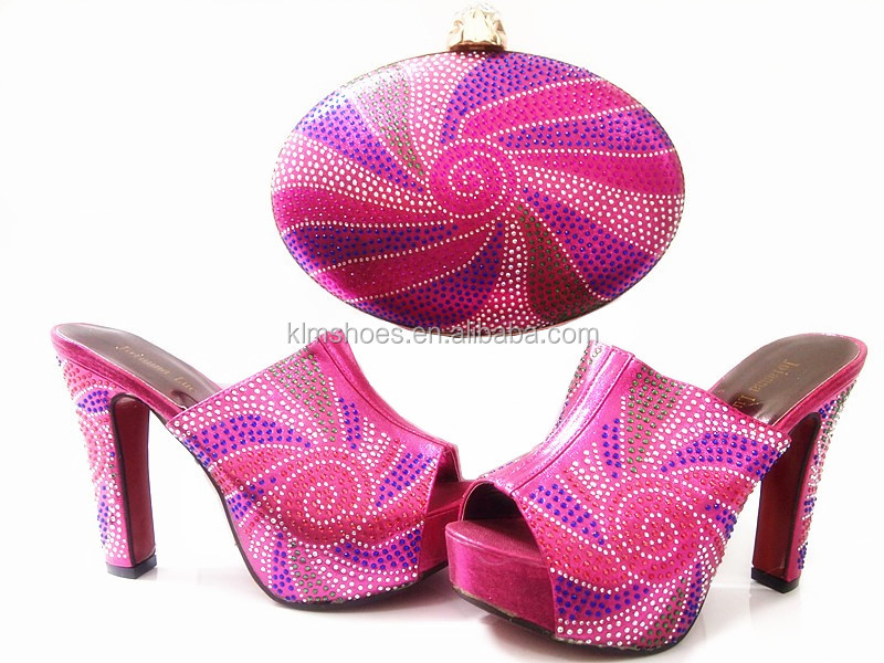 Italian 4 Bag Wedding Fashion Top Shoes Pumps And Set Heels Bag G12 Wholesale Red Woman Online High And Set African Shoes Lady wS1wPq