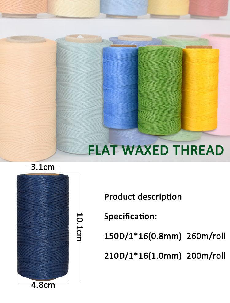 1 2mm 100% Polyester 300d Braided Flat Wax Thread Cord - Buy Polyester Flat  Waxed Thread,1 2mm Wax Thread Cord,Braided Waxed Thread Product on