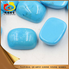Hot sale lively cushion shaped cabochon natural rough blue turquoise stone