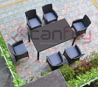 Hot Sale Outdoor Furniture Patio Dining Chairs 6 seat and Table