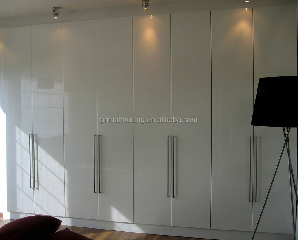 Bedroom Closet Wood Built In Wardrobe Cabinet With Sliding