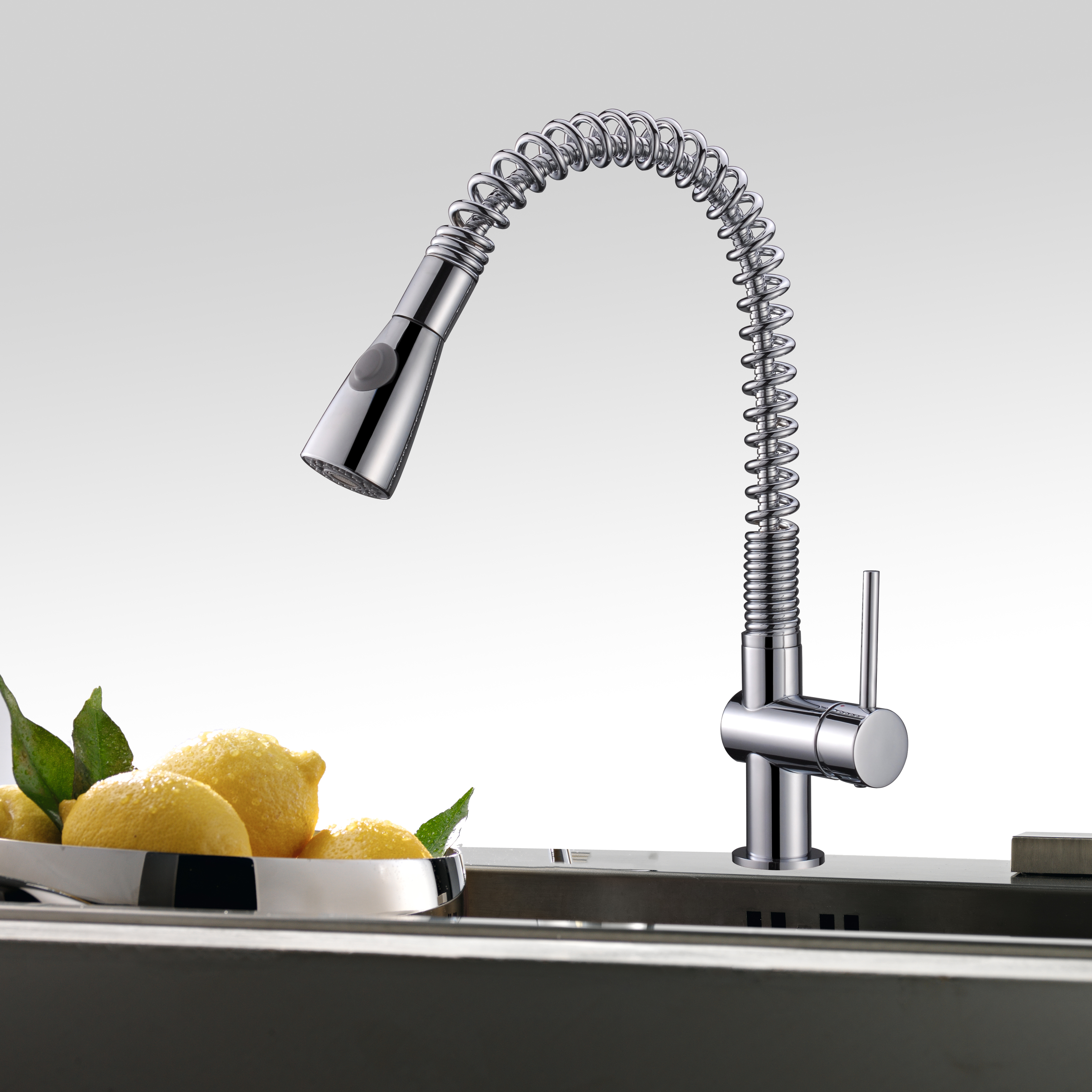 Spray becco cartuccia di ceramica pull out kitchen mixer