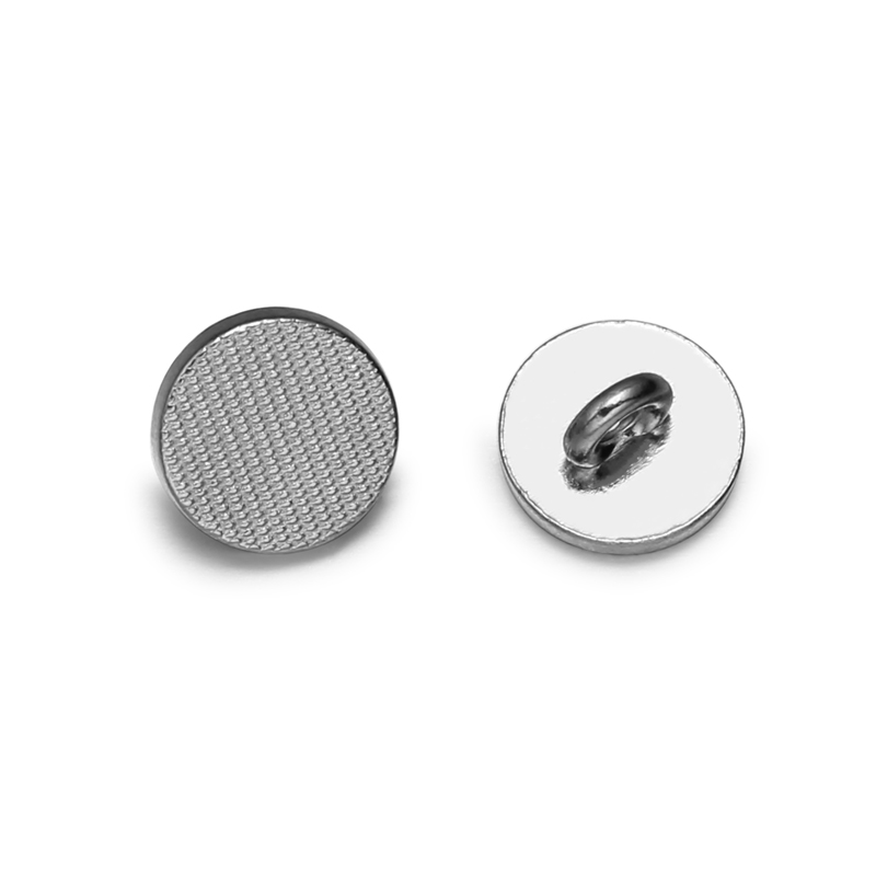 2018 New Design 18L Different Types Of Silver Fancy Metal Buttons For Clothes