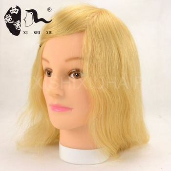 Innovation design cheap price real hair mannequin head reinforced base