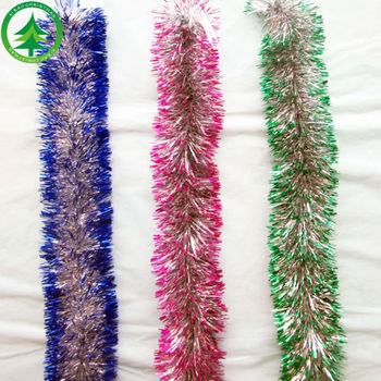 wholesale christmas decorations set christmas metal tinsel garland decorative glitter christmas tinsel garland - Wholesale Christmas Decorations