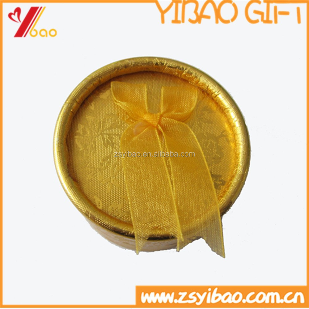 Factory wholesale yellow color paper gift box for earrings/rings/ Cuff link