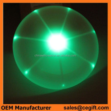 LED flashing outdoor toys LED flying disc for night use, demension 15cm,20cm,25cm