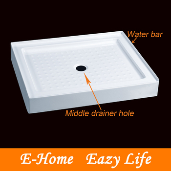 Square Shower Tray With Centre Drain Hole
