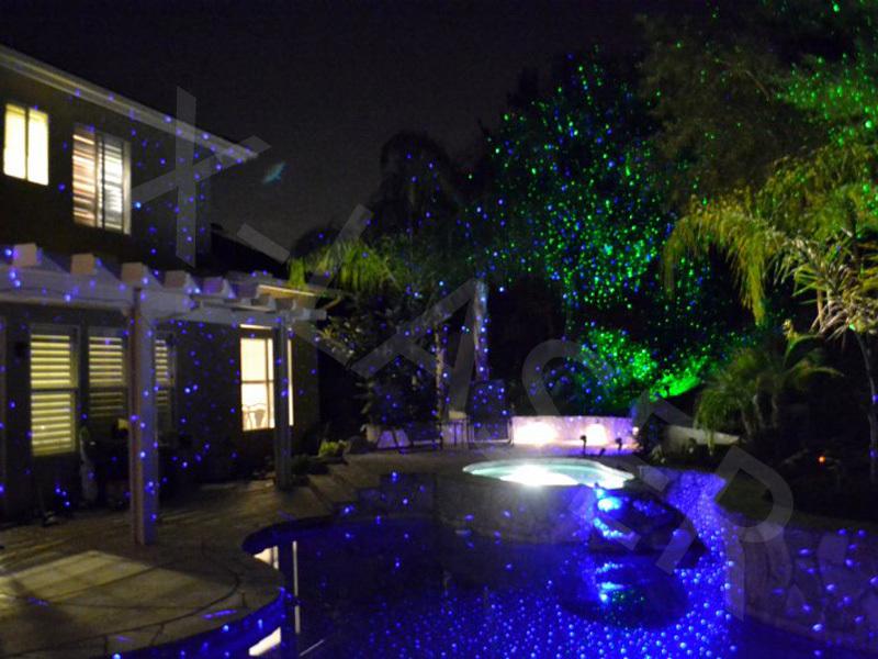 10W Blue Laser Garden Light,outdoor Christmas Star Lights,blue Shooting Star  Christmas Lights