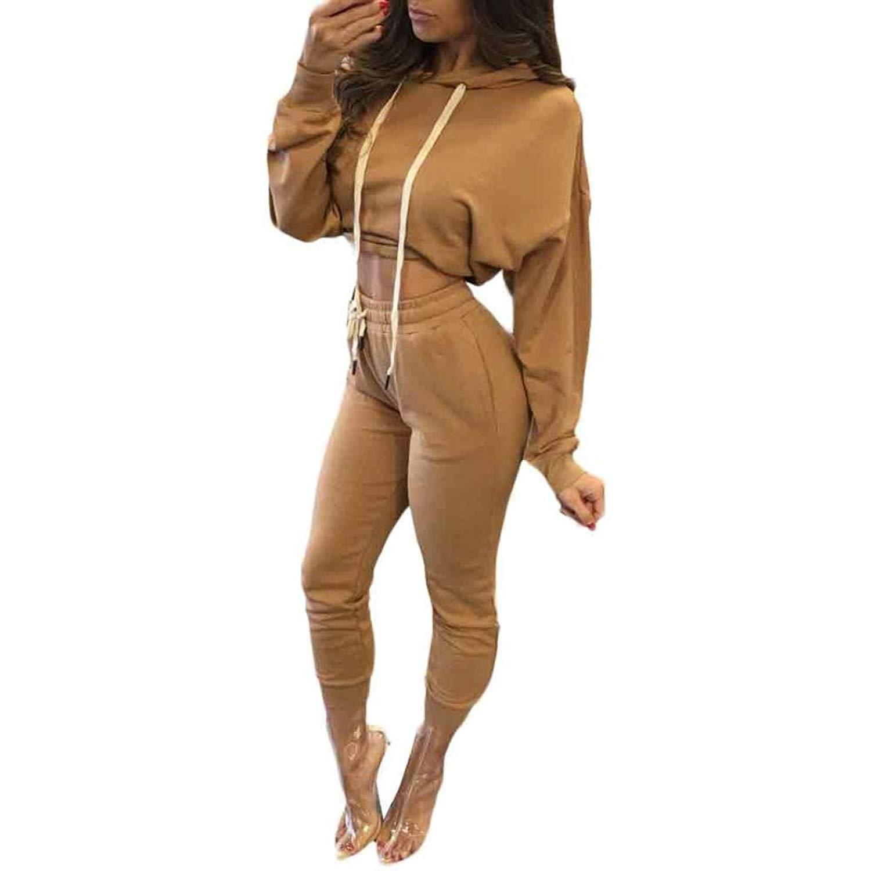c38dc94f6 Get Quotations · Sunward Women Sexy Split 2 Piece Set Clubwear Bodycon  Casual Outfit Sportswear