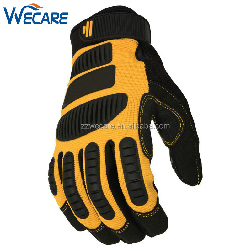 Heavy Duty TPR Knuckle Mechanics Light Duty Impact Padded Palm Cut Protection Ringers Gloves