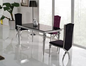 Eettafel Stoelen Modern.Modern Design Goedkope Glazen Eettafel 6 Stoelen Set Th319 Buy