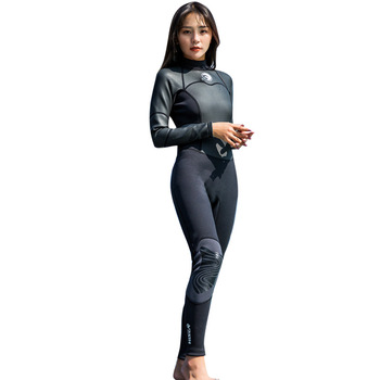 2019 New Women Long Sleeve Swimming Wetsuit Ladies Formal Suits Black Church Ladies Suits