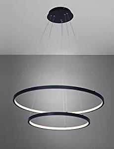 chandelier,Ceiling light,Simple creative lights,Led 50W Pendant Light/ Modern Design/ LED Ring/ 220V~240/100~120V/Special for office,Showroom, No Dimmer , warm white-110-120vFor a variety of occasions