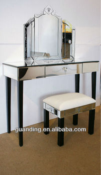 Venetian Mirrored Dressing Table Set Assembled - Buy Dining Table ...
