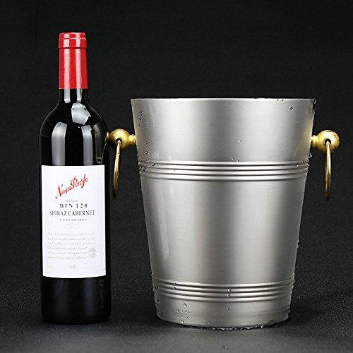 Fabbrica diretta in acciaio inox secchiello per il ghiaccio con coperchio in metallo per bar