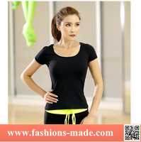 New Fashion Women Gym Sports Shirt Yoga Top Fitness Running T shirt