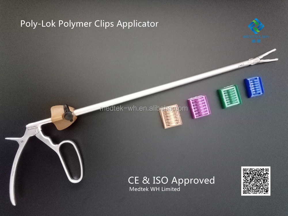 Medical laparoscopic forceps abdominal surgery equipment ligating clips applier