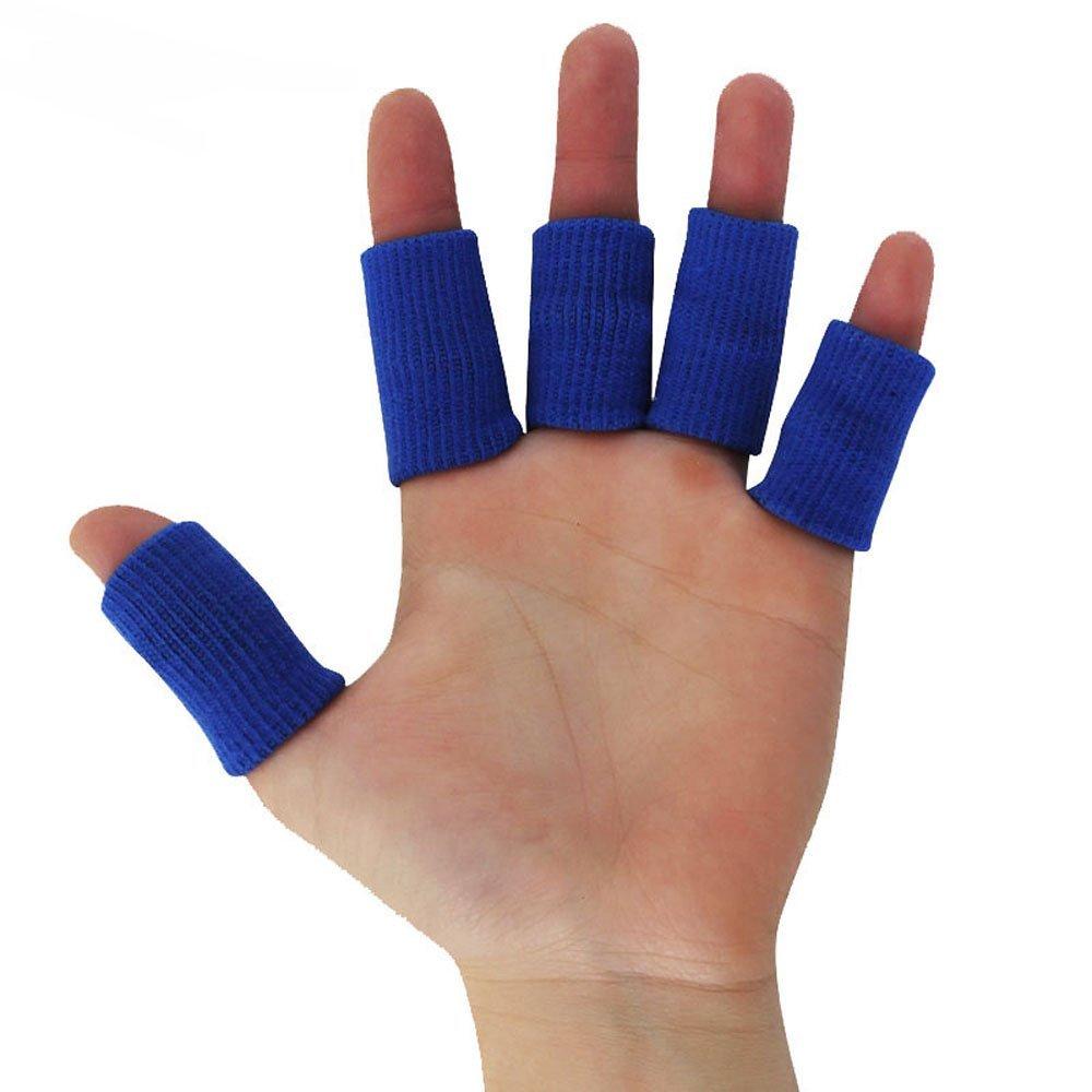 Ezyoutdoor 10 Pieces Nylon Finger Guard Finger Guard Finger Guard Knit Basketball Finger Protection Accessories