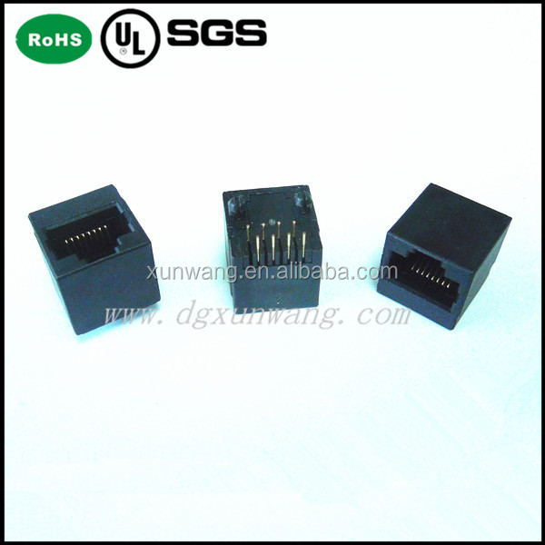 rj11 connector female 6pin/6Pin RJ45 Female Metal Connector RJ45 Connector