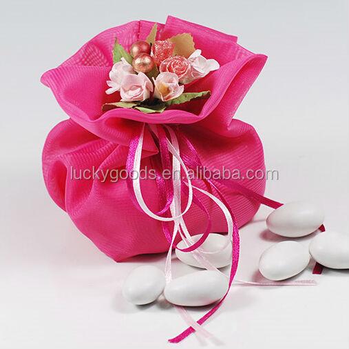 Royal Yarn Rose Red Flower Wedding Cake Bags As Gift Buy Wedding