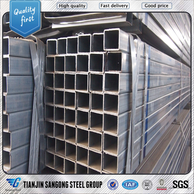 gi square pipe astm galvanized tube rhs <strong>steel</strong>