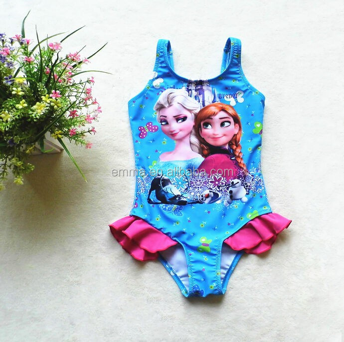 Children Swimwear Cartoon Baby Skirts Swimming Suit Girls Beach Bodysuit Tankini Bathing Clothes For 1-5t Girl With Hat Costume Skilful Manufacture Swimwear