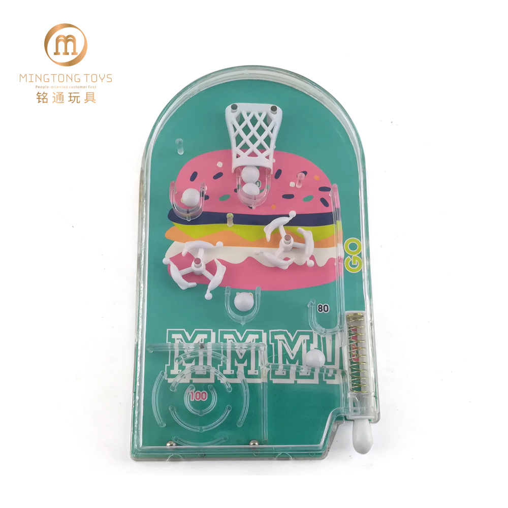 Children educational shooting toys custom paper card design mini pinball maze game