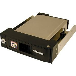 "Addonics Technologies - Addonics Aesnapmrsa Snap-In Sata Mobile Rack - 1 X 3.5"" - 1/3H Front Accessible Hot-Swappable - Serial Ata - Internal - Black ""Product Category: Accessories/Drive Cabinets"""