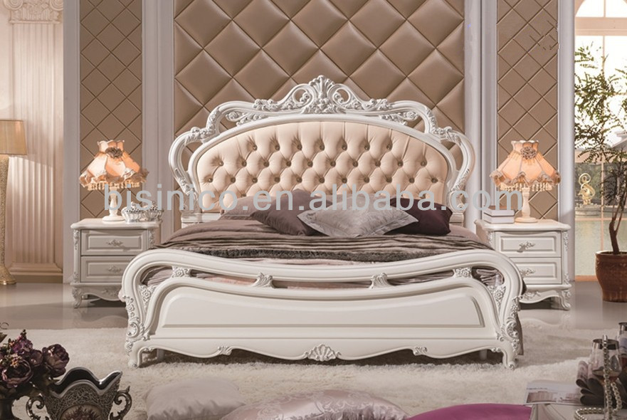 Elegant Wooden Bedroom Furniture,Exquisite Wood Carved Bedroom Set ...
