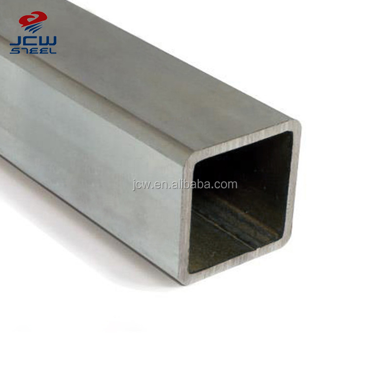 1.5 Inch Mild Carbon Square Welded Galvanized Steel Pipe / Tube Manufacturer for greenhouse