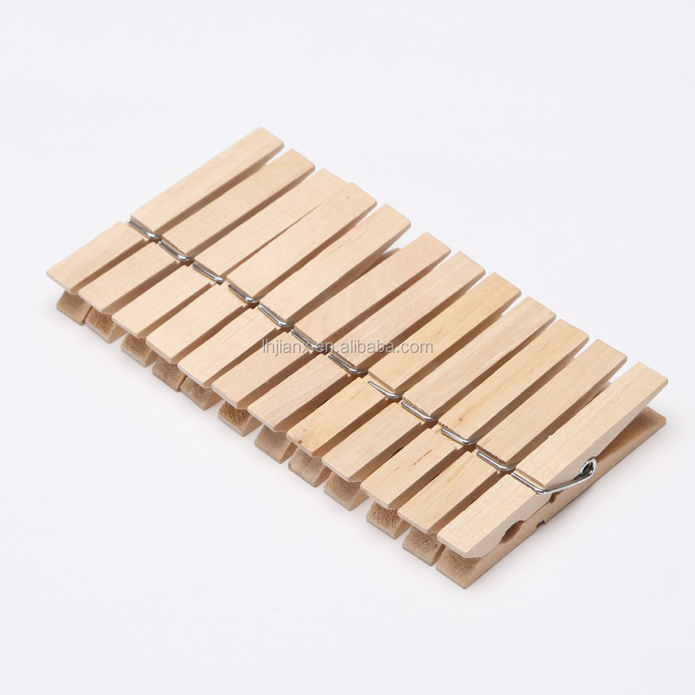 birch wooden clothes pegs