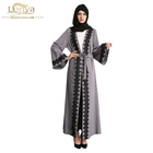 China Manufacturer online jalabiya new model abaya in dubai abaya 2017 beautiful islamic kimono sleeve open abaya