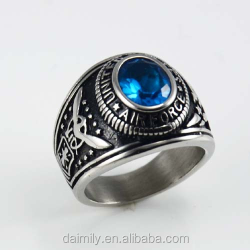 2014 SMT Best selling 316 L Stainless Steel Custom Military Area Forecast Ring Unique Steel Jewelry