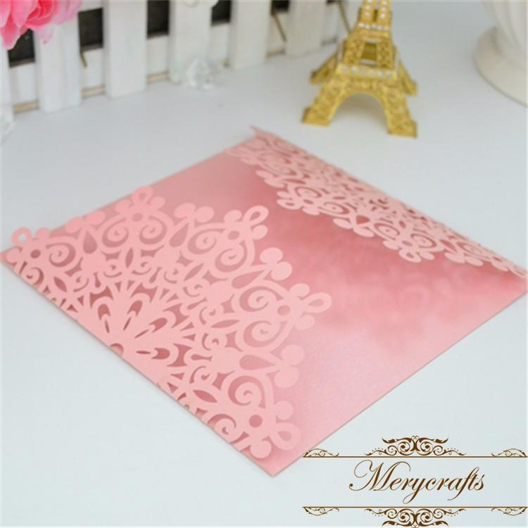 Debut Invitation Card Design Light Brown Pearl Color Laser Cut