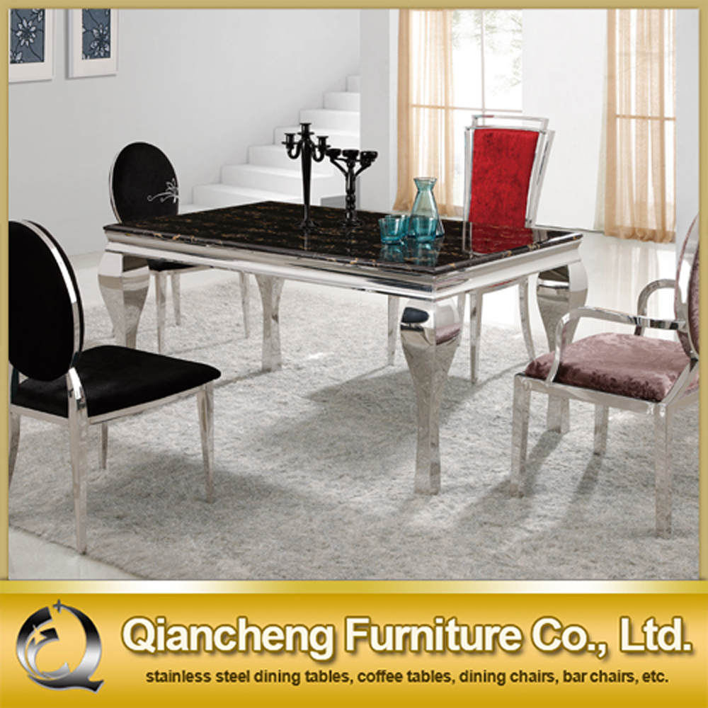 Stainless Steel Kitchen Tables Marble Top Stainless Steel Frame Dining Table Marble Top