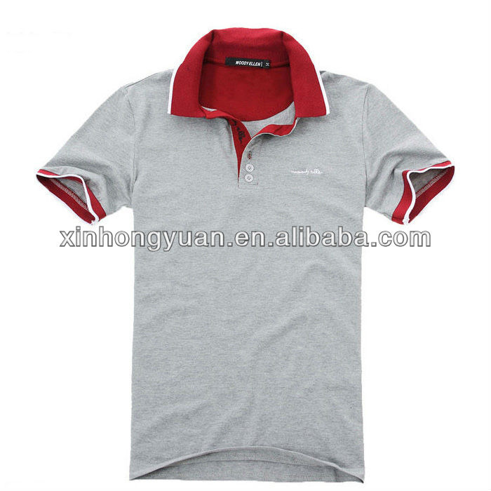 Elettronico puntelli Senza testa  Purchase > grey and red polo shirt