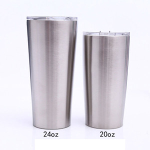 24 oz stainless steel tumbler double wall insulation vacuum water wine mugs 20oz straight tumbler
